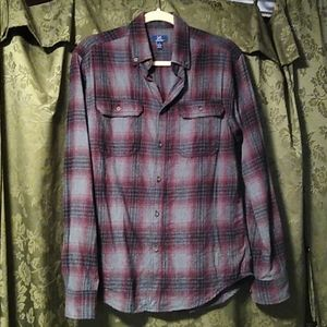 George Small Red/Grey button down shirt